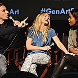 Kristen Bell had a laugh while on stage with Dax Shepard and Joy Bryant.
