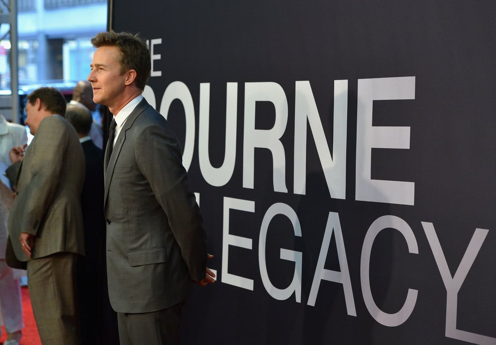 Edward Norton made his way down the carpet at The Bourne Legacy's world premiere in NYC.