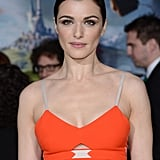 Rachel Weisz looked gorgeous in an orange dress.