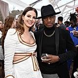 Lana Del Rey and Ne-Yo at the 2020 Roc Nation Brunch in LA