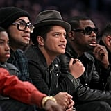 Justin Bieber, Beyonce, Jay-Z, Bruno Mars, Dustin Hoffman and More Celebrities at NBA All-Star Game
