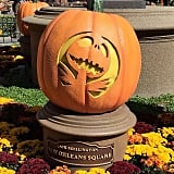 The pumpkins all over the park during Halloween time.