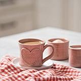 Hand Thrown Magnolia Valentine's Mug