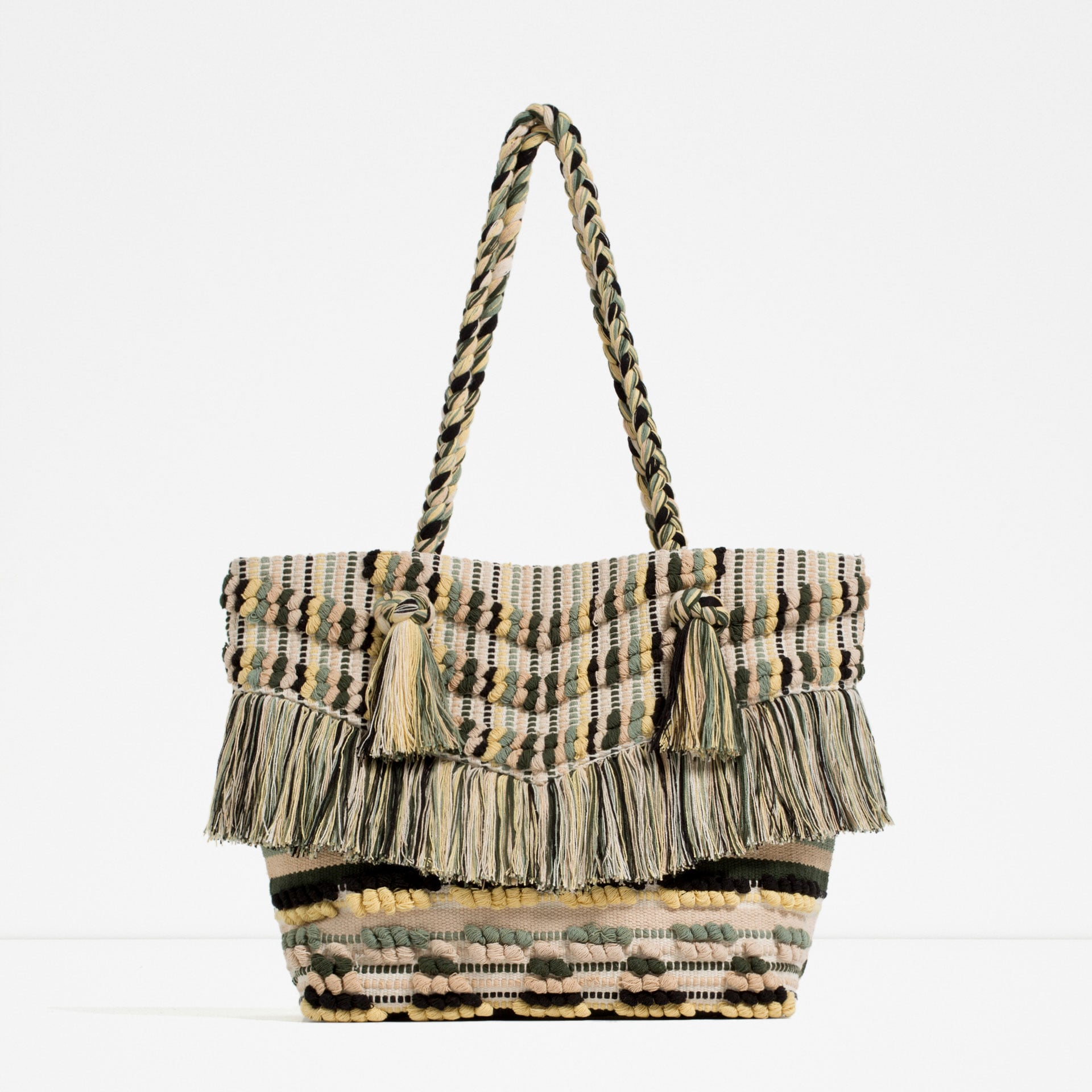 Zara Fringed Tote ($50) | 27 Stylish Beach Bags You Can Match to ...