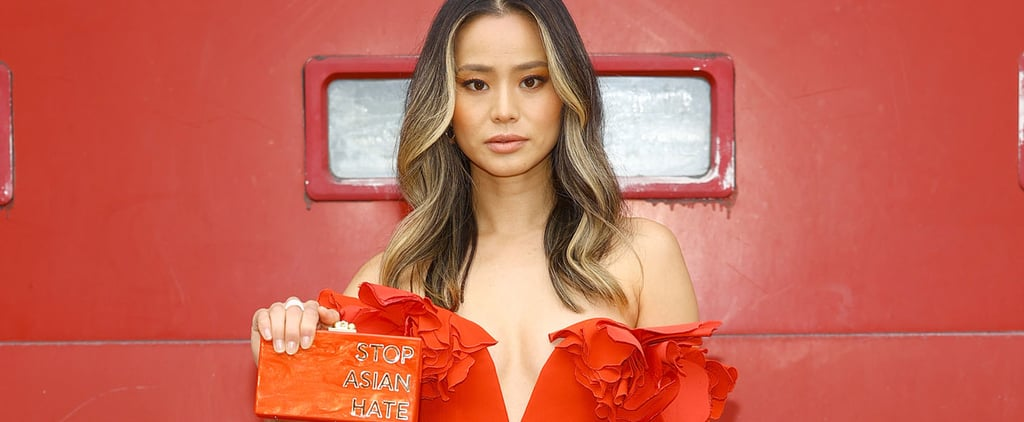 "Jamie Chung's ""Stop Asian Hate"" Clutch at 2021 SAG Awards"