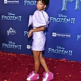 Eris Baker at Frozen 2 Premiere