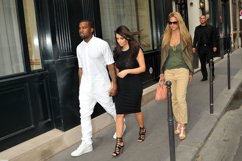 Kim Kardashian and Kanye West didn't let their Paris visit stop them from celebrating the Fourth with pal Bar Refaeli.