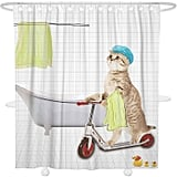 Cat Scooter Shower Curtain