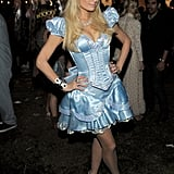Paris Hilton dressed up as a princess for Halloween.
