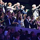 Sitting near the British prime minster, Kate and Harry enjoyed the show.