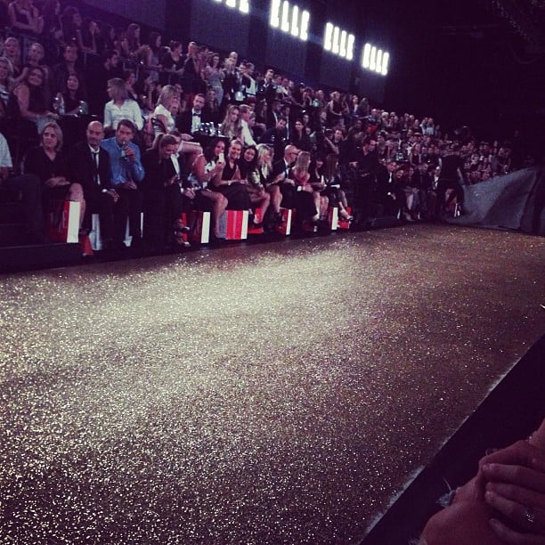 Loving the glitter runway at the Hello Elle launch party! It's practically begging for heels to be kicked up, right?