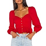 Song of Style Hara Top in Red from Revolve.com