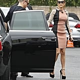 Jennifer Lopez arrived at a press conference to announce her tour with boyfriend Casper Smart.