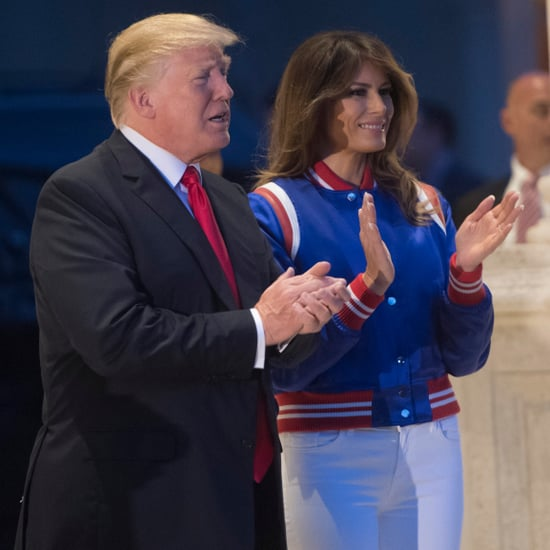Melania Trump's Red White and Blue Jacket at Super Bowl 2018