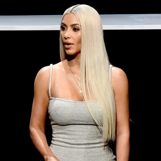 Kim Kardashian Grey Ribbed Yeezy Dress