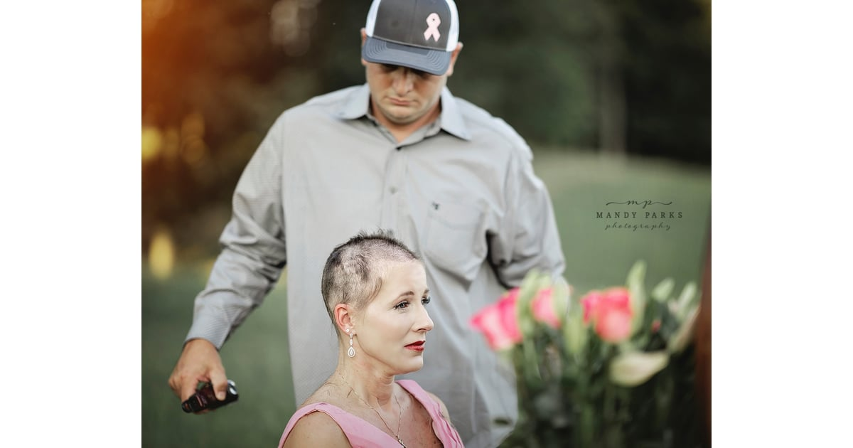 Husband Shaves Wifes Hair In Breast Cancer Photoshoot -6516