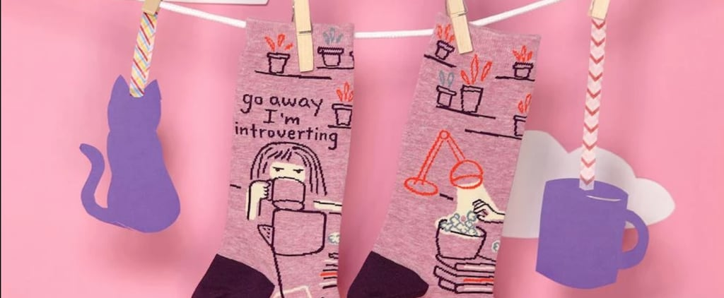 """Go Away I'm Introverting"" Socks"