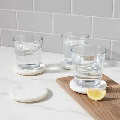 The Perfect Hostess Gift: Marble Coasters