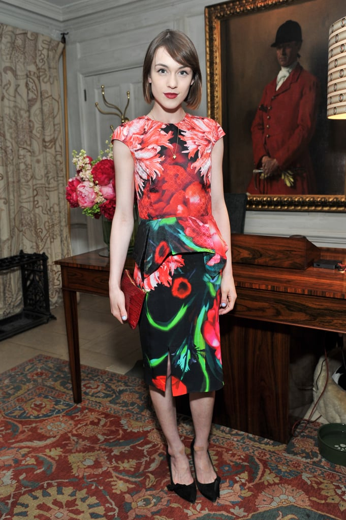Ella Catliff at the Jimmy Choo and Esquire celebration for the launch of London Collections: Men in London.