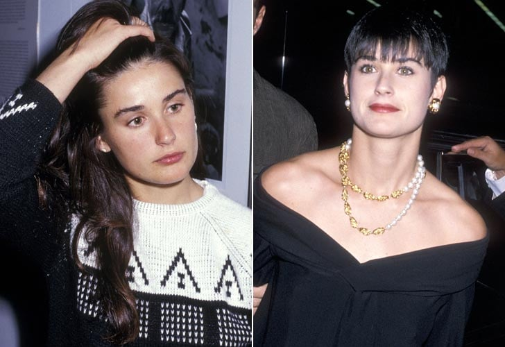 Demi Moore Long Hair To Boy Cut Best Celebrity Hair Changes Ever