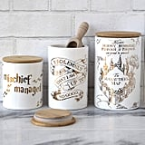 Harry Potter Marauder's Map Porcelain Three Piece Canister Set