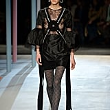 Edgy Black Lace: On The Runway