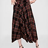 Zara Plaid Midi Skirt