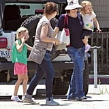 Jennifer Garner had her hands full with Seraphina and Violet.