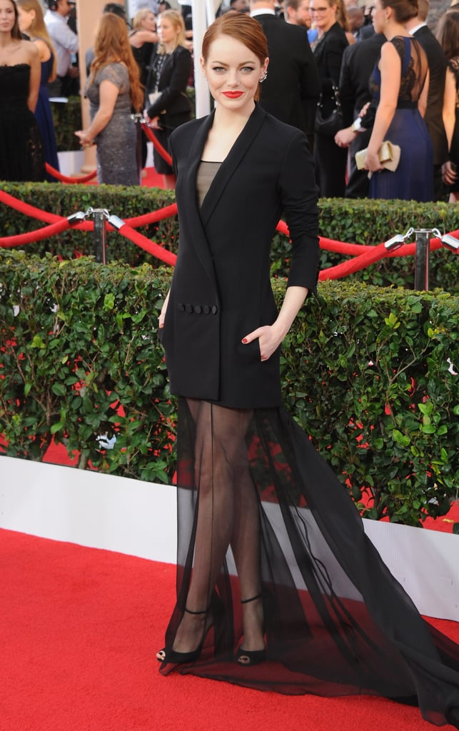 In a sultry-meets-polished Dior look at the 2015 SAG Awards.