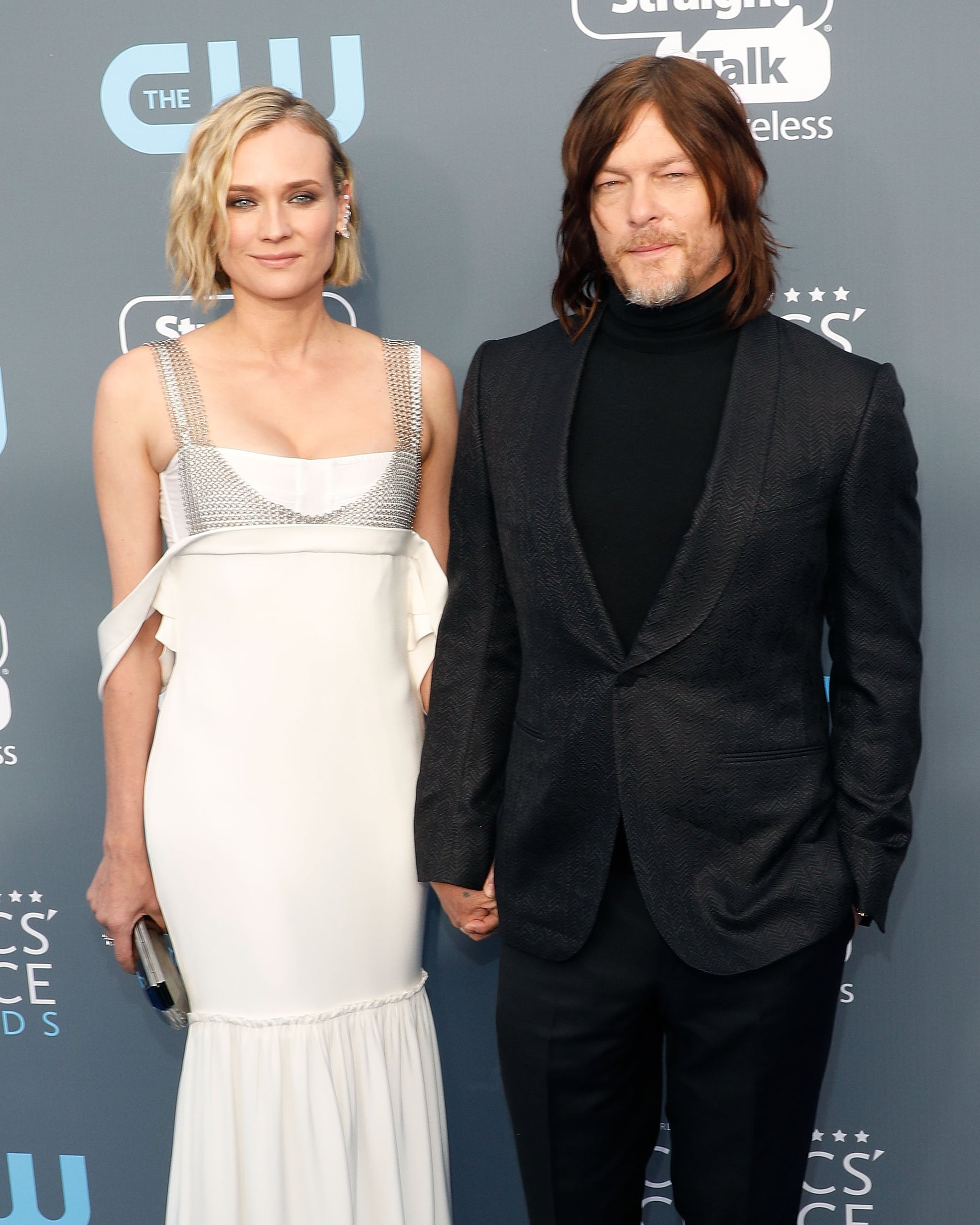 SANTA MONICA, CA - JANUARY 11:  Diane Kruger and Norman Reedus attend the 23rd Annual Critics' Choice Awards at Barker Hangar on January 11, 2018 in Santa Monica, California.  (Photo by Taylor Hill/Getty Images)