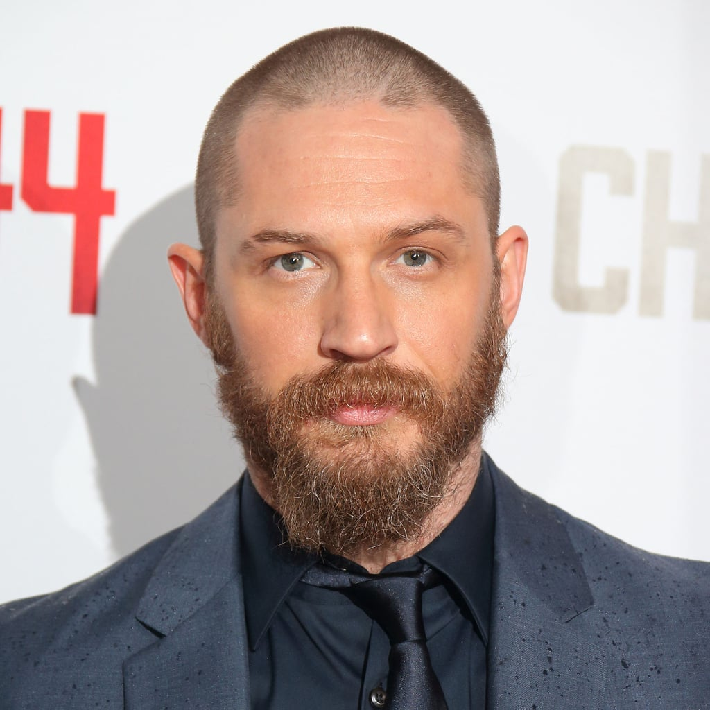 Tom Hardy S Shaved Head And Beard At The Child 44 Premiere