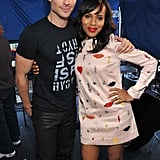 Ian Somerhalder and Kerry Washington shared a sweet hug backstage in 2013.