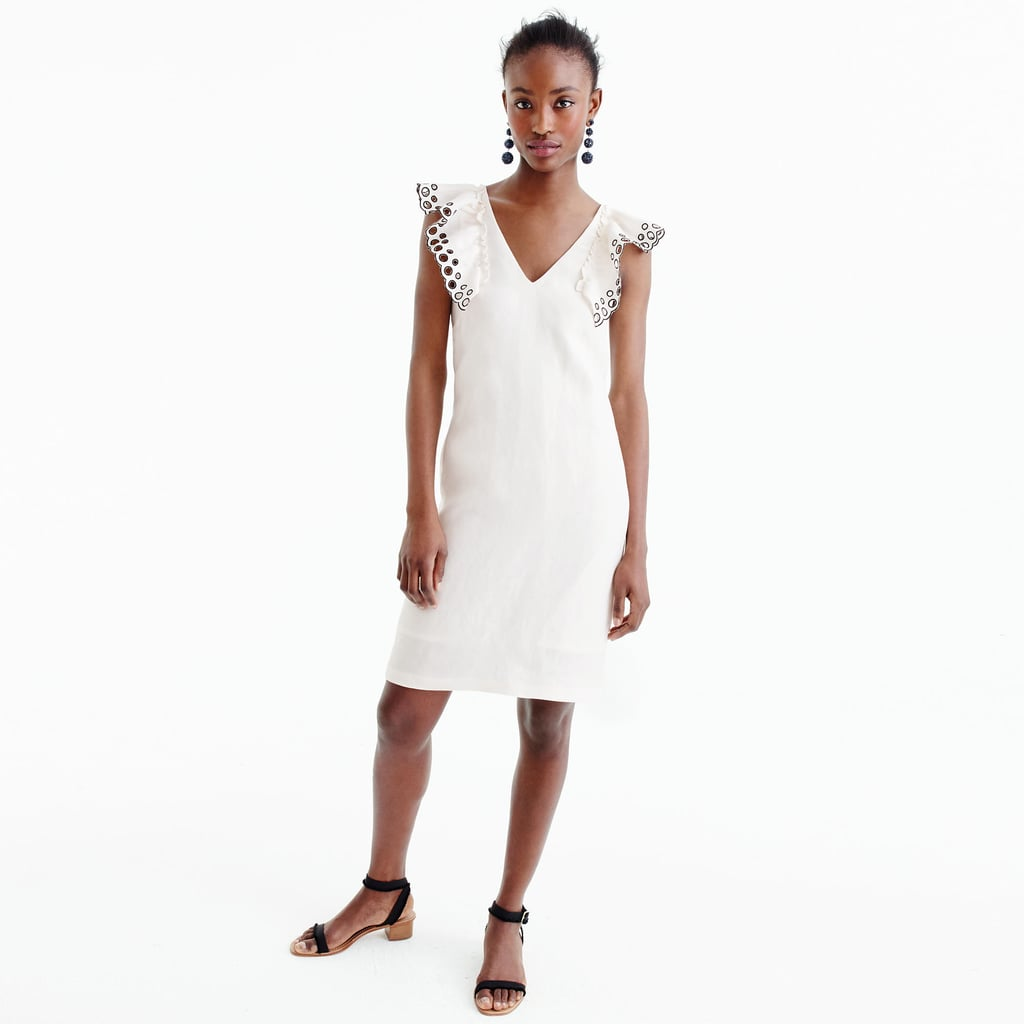 J. Crew Ruffle Shoulder Sheath Dress