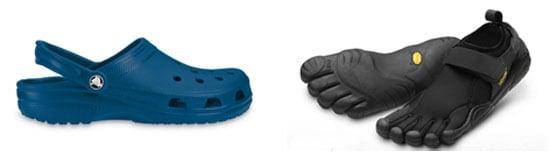 Which Are More Hideous: Crocs or Vibram Five Finger Flow?