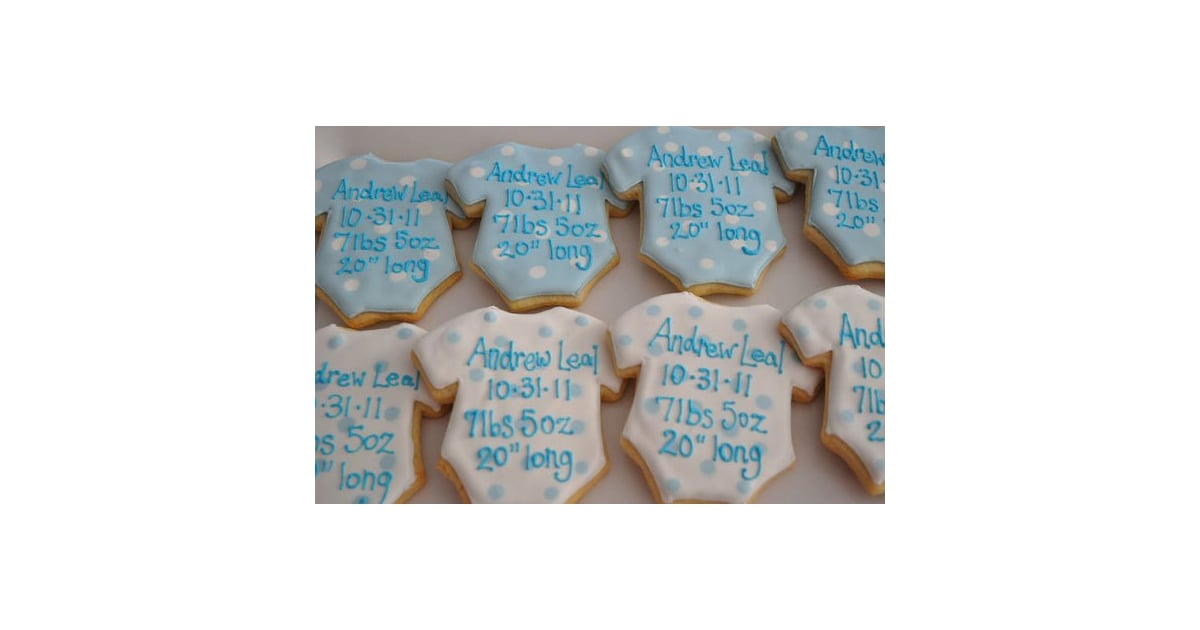 Tiffany Baby Gifts Australia : Tiffany s sweet spot birth announcement cookies dozen