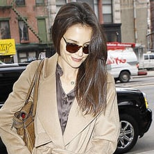 Pictures of Katie Holmes Out in NYC After Seeing How to Succeed in Business Without Really Trying