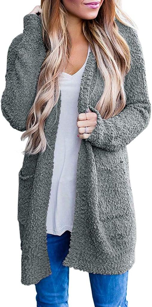 Merokitty Women's Long-Sleeved Soft Chunky Knit Sweater