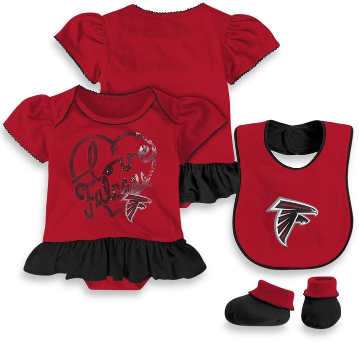 half off a12a9 7c354 NFL Atlanta Falcons Girls 3-Piece Layette Set   All of the ...