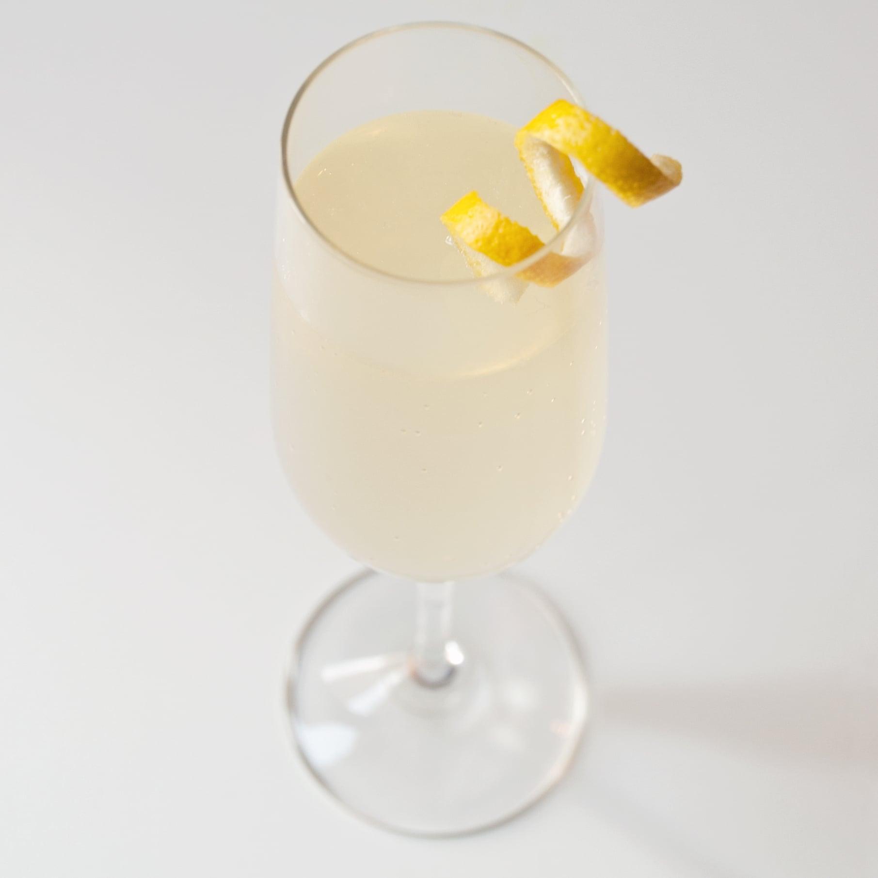 Sparkling Pear and Elderflower Cocktail