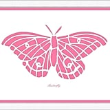 Pink Butterfly Framed Child۪'s Wall Art