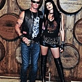 Rande Gerber and Cindy Crawford as Hells Angels