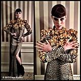 Coco Rocha struck an avant-garde pose in her Fausto Puglisi for Ungaro dress. Source: Coco Rocha on WhoSay