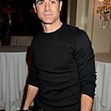 Justin Theroux opted for an all-black ensemble.
