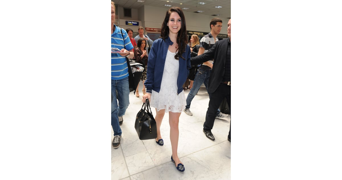 5d046ed1c0cfc Lana Del Rey made this frilly Summer dress airport-appropriate with ...