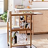 Bamboo Rolling Kitchen Cart