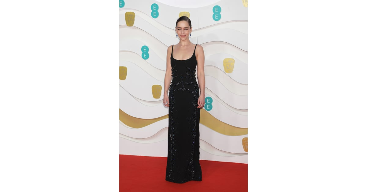 Emilia Clarke At The 2020 British Academy Film Awards The Best Dressed Celebrities From The Baftas Red Carpet Popsugar Fashion Photo 5