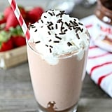 Strawberry Nutella Milk Shake