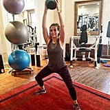 """Why it's effective: """"This is another one of my signature moves. It blasts your core toning your butt and thighs. I really love this exercise because it focuses on your inner thighs and the lower part of your butt — both are hard-to-reach areas!"""