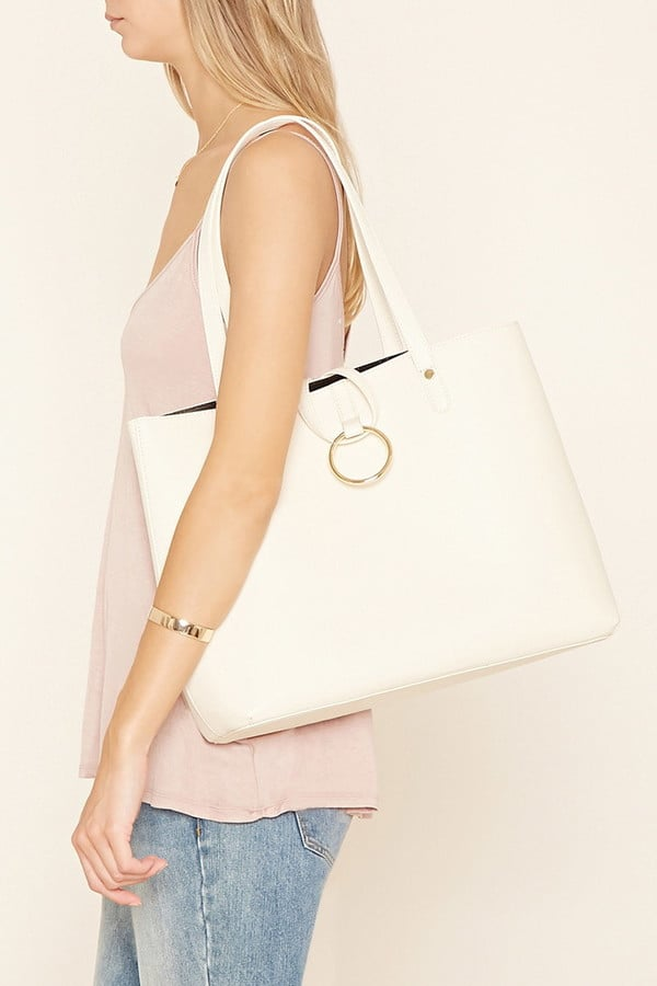Forever 21 Loop-Ring Faux Leather Tote ($28)
