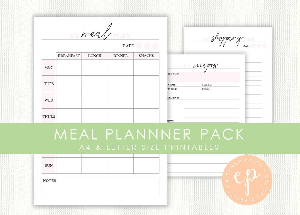 picture regarding Meal Planner Printable known as Supper Planner Printable Pack ($6) Printable Supper-Building